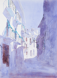 giclee of watercolour painting of Frigiliana near Malaga