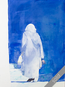 Watercolour painting Bereber-woman