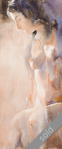 Watercolour painting KlausHinkel-watercolours-Nude-seated