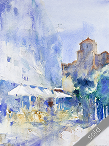 Watercolour painting Guadix