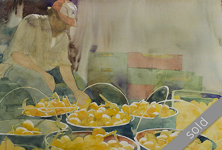 Watercolour painting Mercadillo