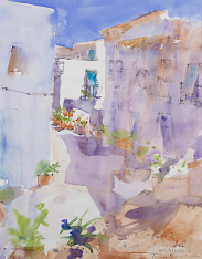 calle-alta-frigiliana-watercolours es-sm