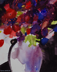giclee of watercolour painting of Stillife flower