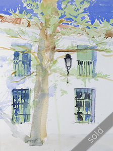 Watercolour painting Frigiliana