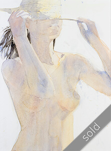 Watercolour painting KlausHinkel-watercolours-summer-girl